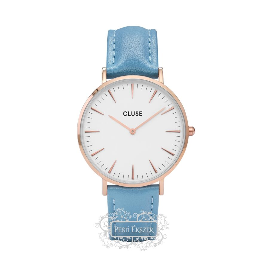 Cluse La Bohéme Rose Gold White Retro Blue női óra CL18033