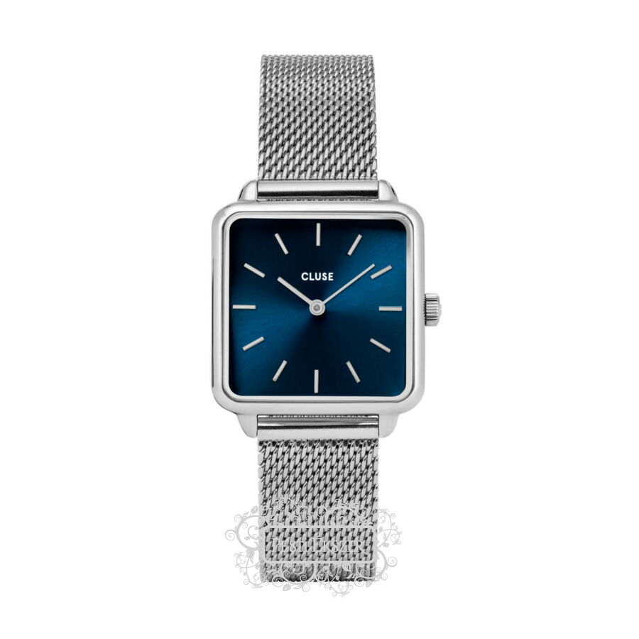 Cluse La Tétragone Mesh Silver Marine Blue női óra CL60011