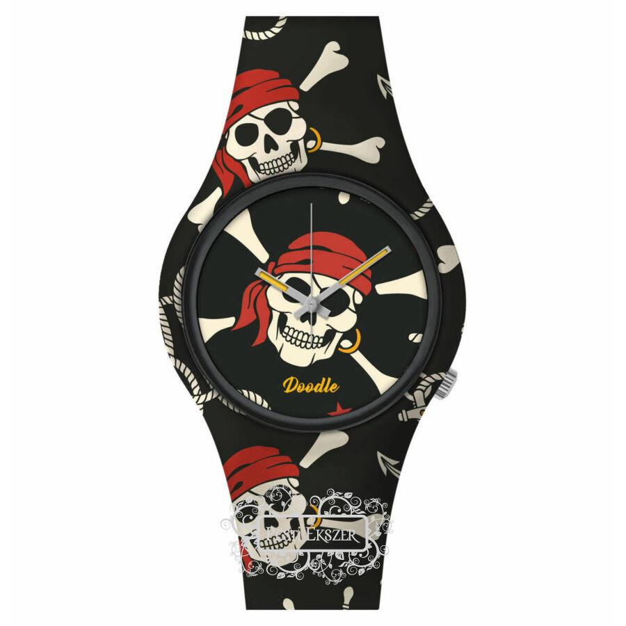 Doodle Skull Mood Red Pirates óra DOSK004