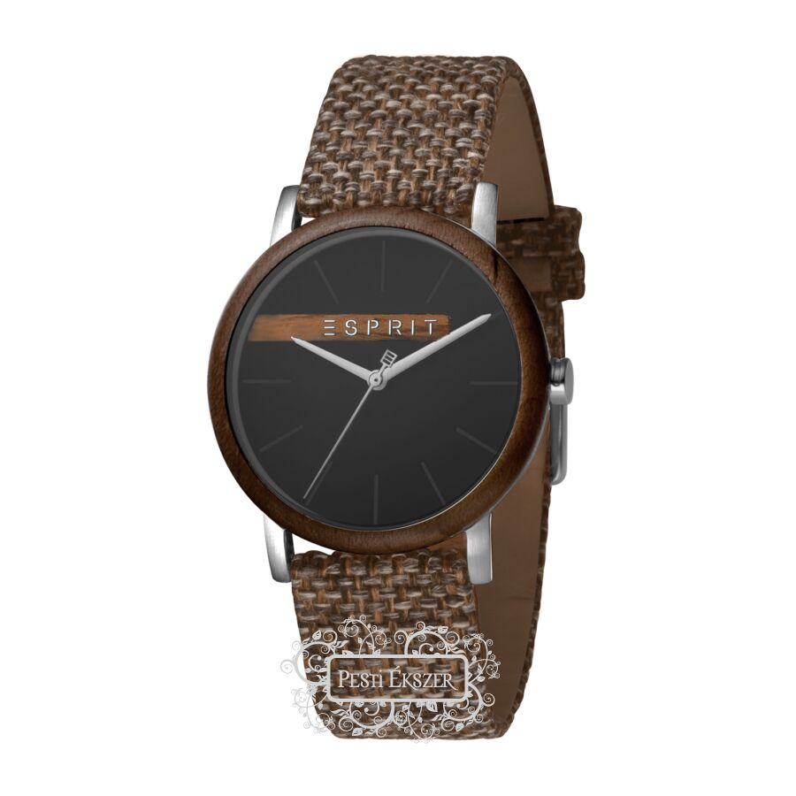 Esprit Plywood Black Grey Canvas - G férfi óra ES1G030L0045