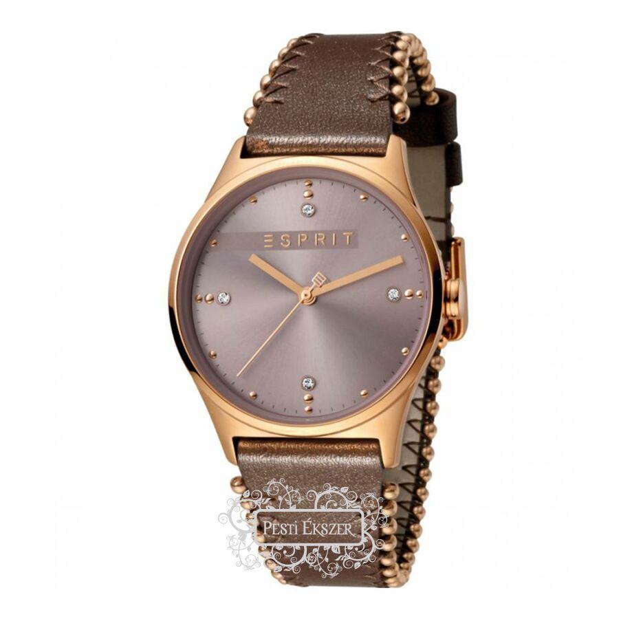 Esprit Drops 01 Pink D.Brown női óra ES1L032L0045