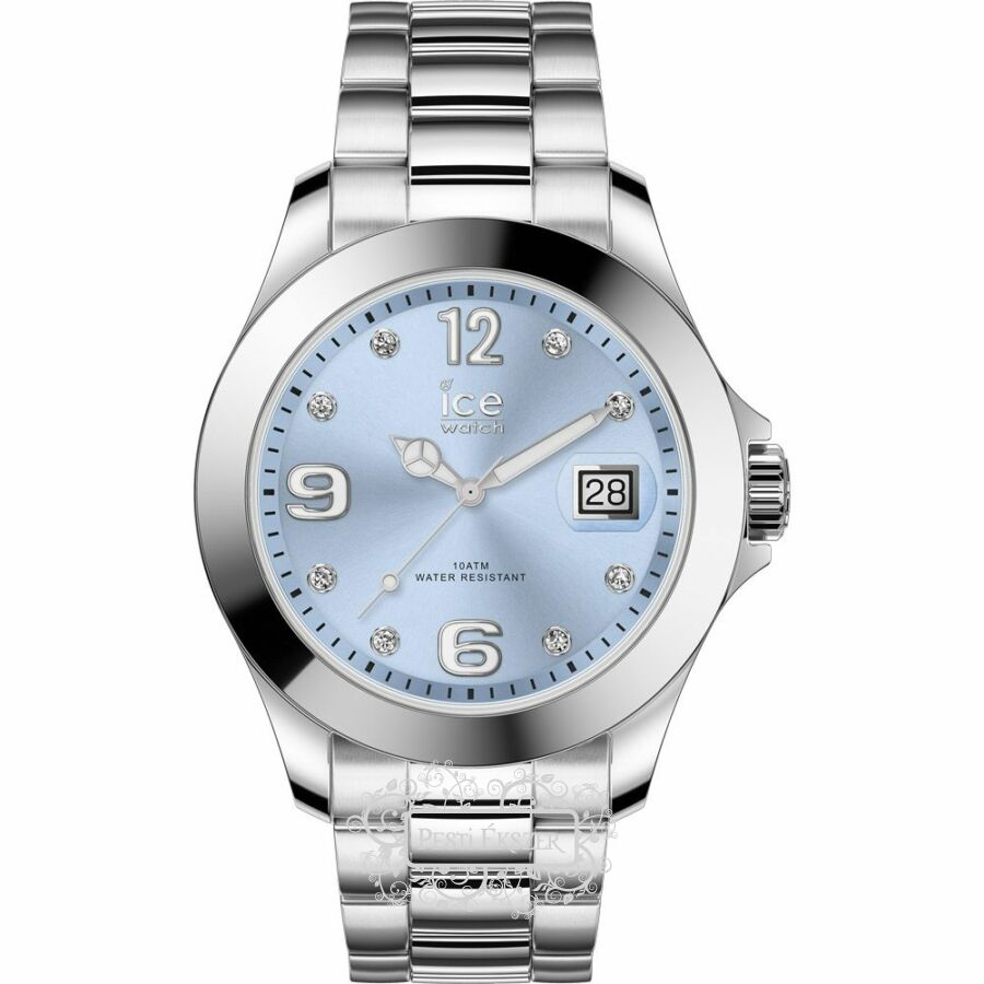 ICE-WATCH ICE STEEL CLASSIC LIGHT BLUE SILVER STONES M 016775